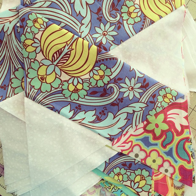 These #triangles are ready to be turned into a quilt top! #soakphotochallenge