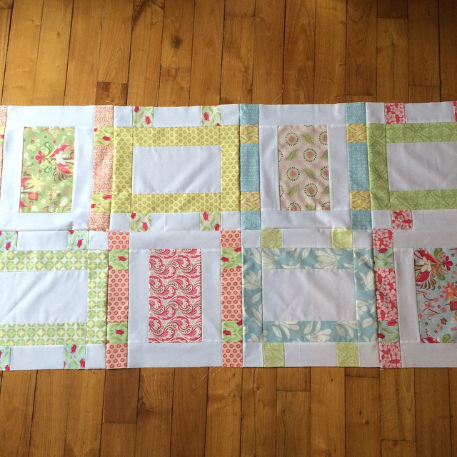 2/5 finished with a lap quilt top. @katespain fabric and pattern
