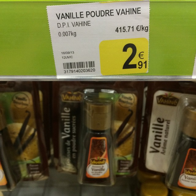 Looking for vanilla extract. The price of vanilla is amazing.