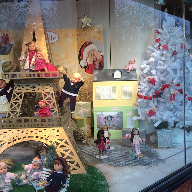 The toy store has their Christmas display up!