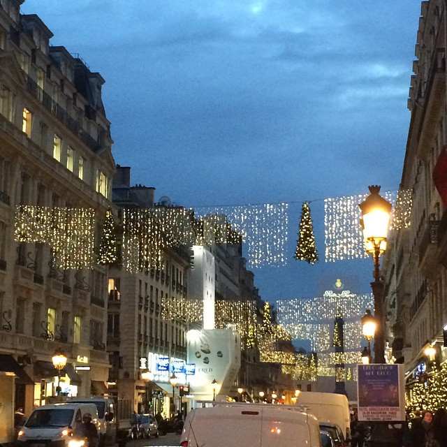 I love the Christmas decorations around the city. #Paris