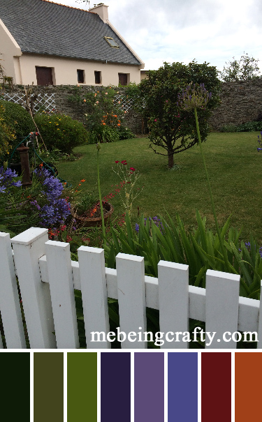 French Color Palettes - Backyard - Me Being Crafty
