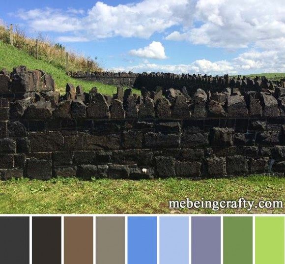Northern Ireland Rocky Wall - Color Palette