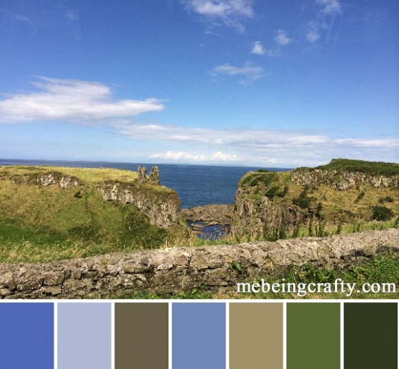 Northern Ireland Ocean View - Color Palette